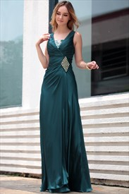 Dark Green Evening Dress,Mother Of The Bride Dresses For Beach Wedding