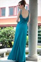 Teal Green Floor Length Evening Dresses Sweetheart Pleated Prom Dress