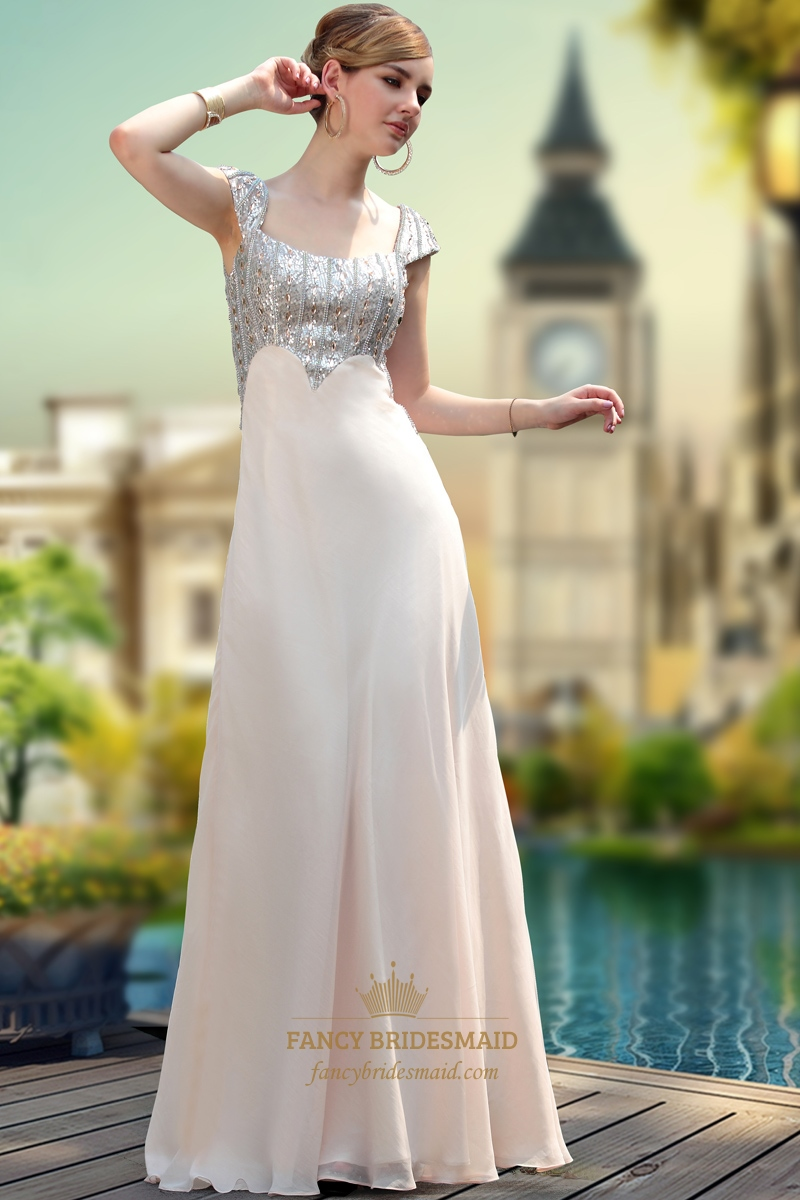 Prom Dresses With Sequins At The Top Formal Dresses With