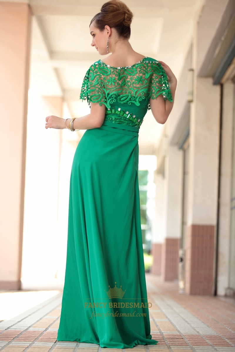 Green Lace Long Sleeve DressLong Green Dress With Sleeves UK 2018 | Fancy Bridesmaid Dresses
