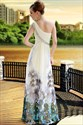 One Shoulder Bridesmaid Dresses Long, One Shoulder Long Chiffon Dress