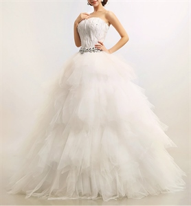 Feather Wedding Dress, Corset Wedding Dresses With Feathers