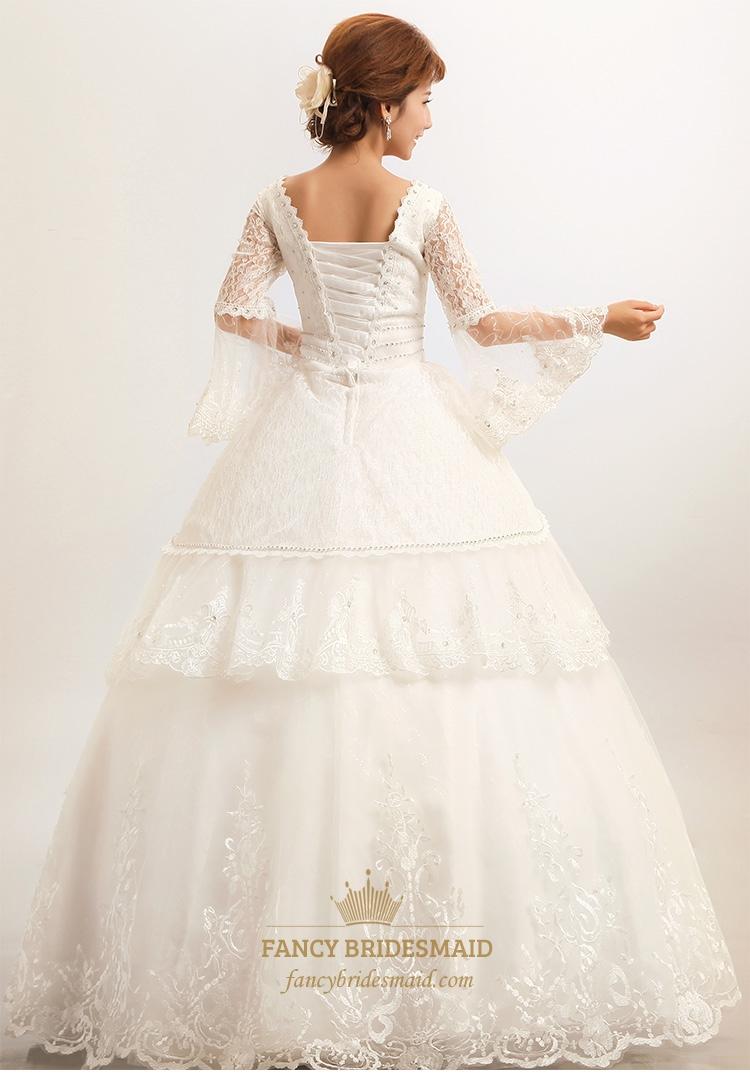 Vintage Wedding Dresses Kcmo : Vintage lace wedding dresses modest flower girl