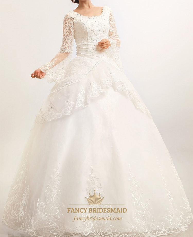 Modest Wedding Dresses With Long Sleeves, Lace Wedding Dresses ...