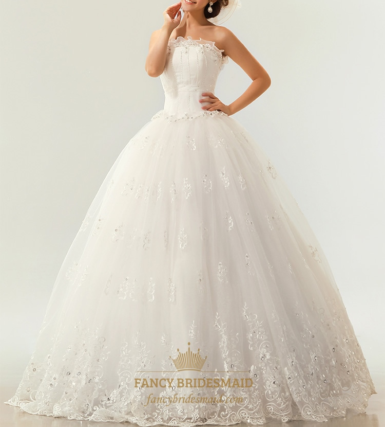 Beautiful Strapless Wedding Dresses, Lace Wedding Dresses ...