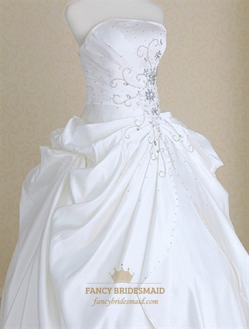 Wedding Dresses For Plus Size Women, Long White Strapless Dress ...