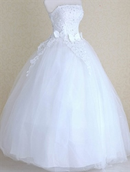 Simple Wedding Dresses For The Beach, White Lace Wedding Dress