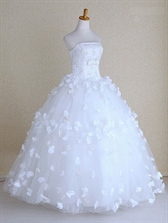 Lace Wedding Dresses Vintage, Beautiful Strapless Wedding Dresses