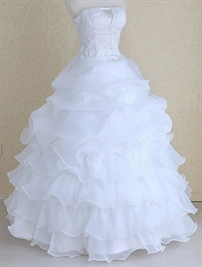 Organza Feather Wedding Dress, Corset Wedding Dresses With Feathers
