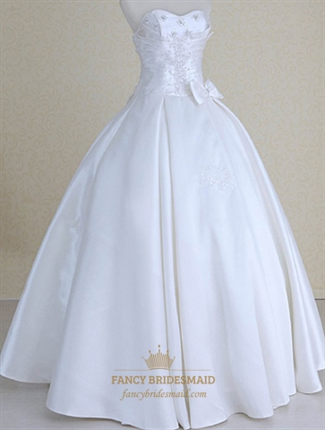 Strapless Wedding Dresses Corset Back, Simple Wedding Dresses With ...