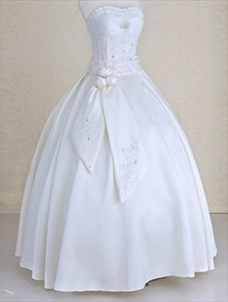 Wedding Dresses With Ribbons And Sashes,Ivory Sweetheart Wedding Dress