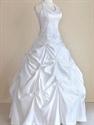 Halter V Neck Wedding Dresses, Modest Wedding Dresses Pick Up Skirt