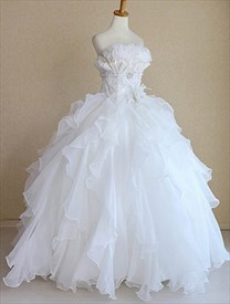 Snow White Princess Wedding Dresses, Bridal Gowns For Winter Wedding