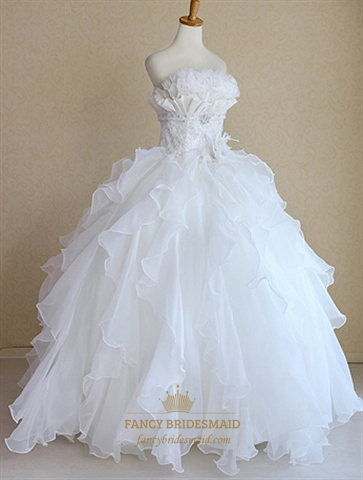 Snow White Princess Wedding Dresses Bridal Gowns For
