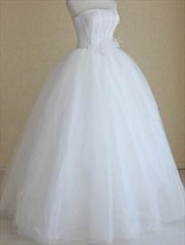 Basque Waist Wedding Dress, Strapless Wedding Dresses With Corset Back