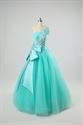 Jade Green Prom Dress Basque Waist Ball Gown Dress With Butterfly Bow