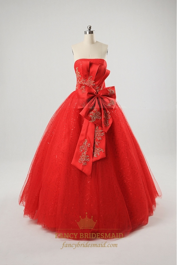 Red Ball Gown Prom Dresses Uk,Red Military Ball Dresses,Red Ball ...