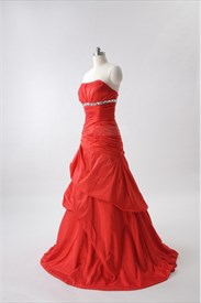 Red Ball Gown Prom Dresses 2019 UK,Long Red Ball Gowns