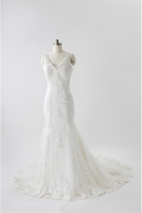 Beautiful V-Neck Wedding Dresses, Lace Wedding Dresses Vintage