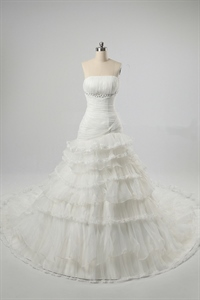 Strapless Ivory Wedding Dresses, Wedding Dresses With Chapel Train