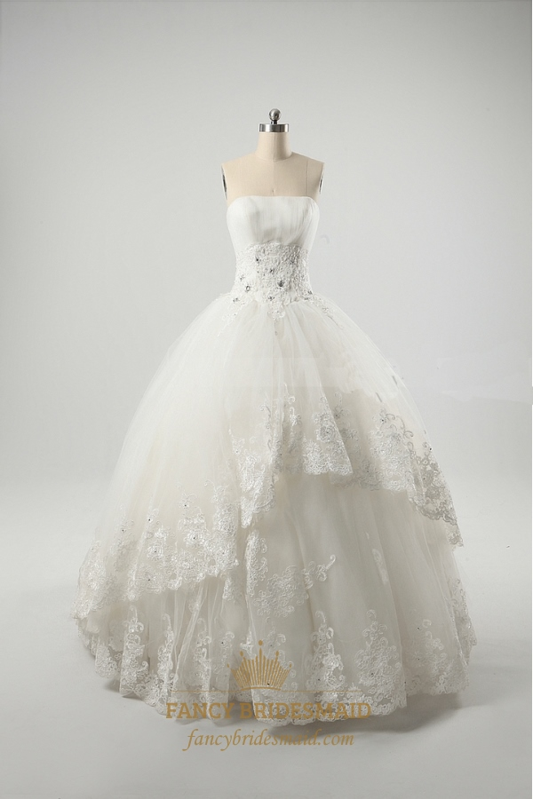 Ivory Ball Gown Wedding Dresses, Vintage Inspired Lace Wedding ...