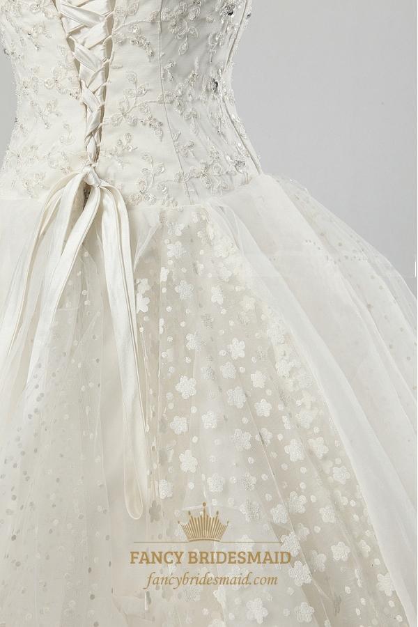 Ivory lace wedding dresses strapless wedding dresses with for Strapless bra corset wedding dress