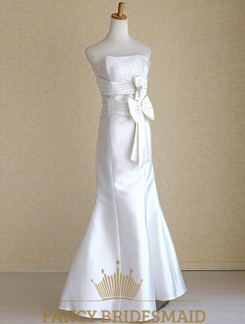 white satin mermaid wedding dress mermaid wedding dress