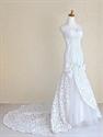 Ivory Satin Mermaid Wedding Dress, Sweetheart Mermaid Bridal Gowns