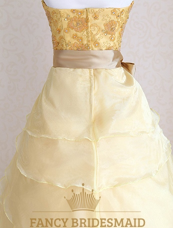 Yellow Military Ball Dresses 46