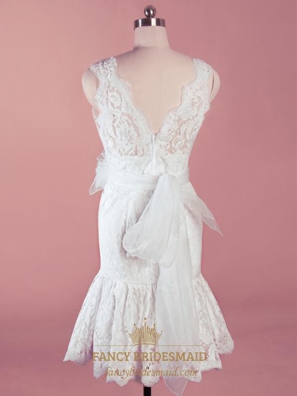 Short Mermaid Wedding Dresses 12