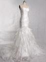 Trumpet Mermaid Organza Wedding Dress,Mermaid Wedding Dress With Train