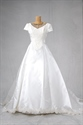 Basque Waist Wedding Dress, Wedding Dress With Long Trains And Sleeves