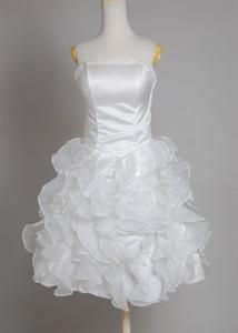Cheap White Short Cocktail Dresses UK, White Graduation Dresses For High School