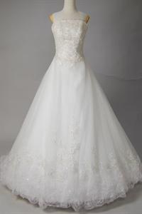 White Strapless Wedding Dresses, Wedding Dresses With Chapel Train