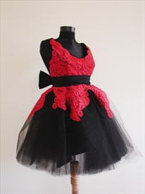 Short Red And Black Prom Dresses, Short Lace Dresses For Prom