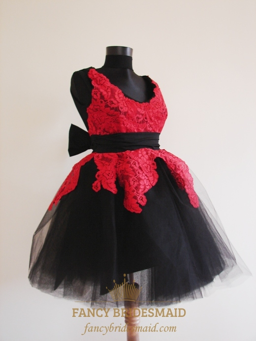 Short Red And Black Prom Dresses, Short Lace Dresses For Prom ...