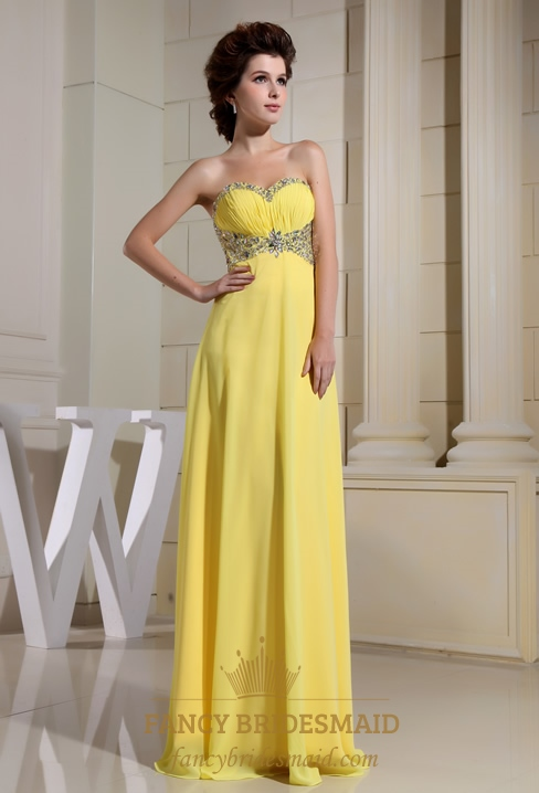 Yellow Evening Dresses Chiffon 87