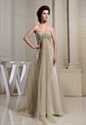 Sweetheart Pleated Beaded Long Prom Dress,Long Empire Waist Prom Dress
