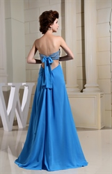 Aqua Blue Strapless Prom Dress, Side Cut Out Prom Dress, Sequin Gowns