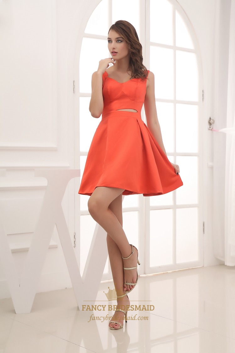 1a411eb91f Orange Red Cocktail Dresses