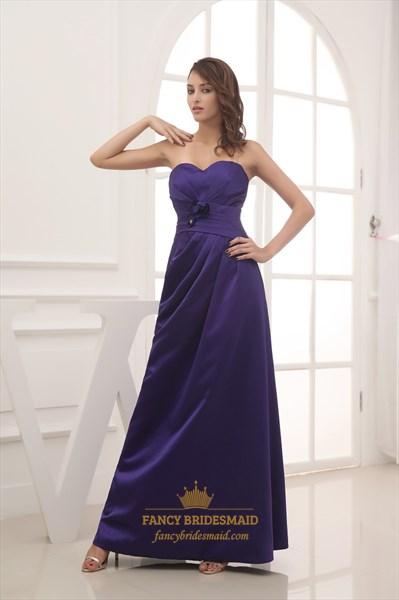 2fd719299c0 Purple Sweetheart Neckline Prom Dress