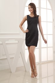 Black Sheath Cocktail Dress, Little Black Dress For Cocktail Party