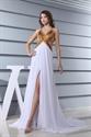 Long Open Back Evening Dress,Chiffon A-Line Floor-Length Evening Dress