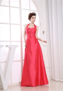 Long Halter Bridesmaid Dresses, Halter Empire Waist Bridesmaid Dresses