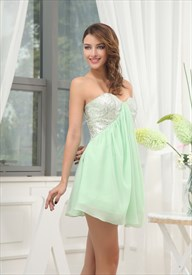 be27cb88f11 Sequin Bandeau Dress With Chiffon Skirt