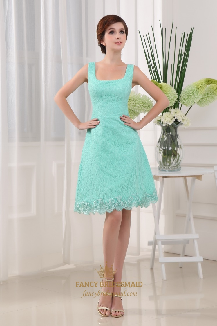 Knee Length Lace Cocktail Dresses, Knee Length Lace Overlay Dress