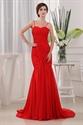 Chiffon Mermaid Prom Gown,Ruched Mermaid Sweetheart Floor-Length Dress