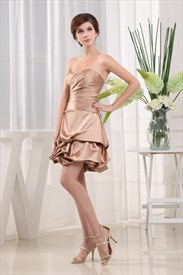 A-Line Strapless Sweetheart Gown, Sweetheart Ruched Bubble Dress