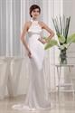 Elegant Ivory Halter Mermaid Floor Length Prom Dresses With Train 2021