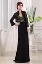 Long Chiffon Sweetheart Prom Dress, Black Chiffon Evening Dress